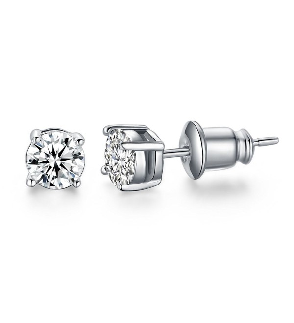 UMODE Jewelry Solitaire 0.5 Carat Round Cubic Zirconia CZ Diamond Stud Earrings 5mm - CO120UYNOFZ
