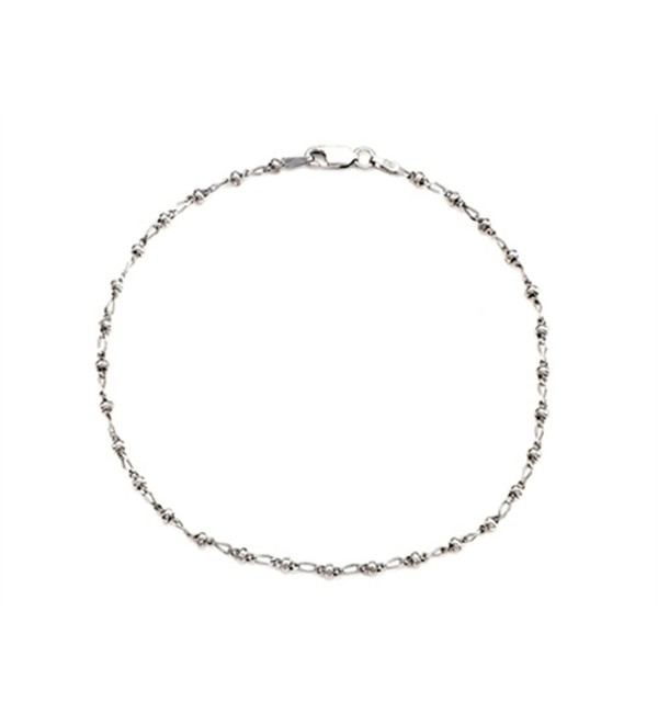 Finejewelers 10 Inches Ankle Bracelet Sterling Silver - CH119623C9B