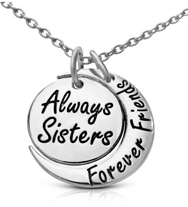 Inspirational Sisters Forever Inscribed Necklace - C3127M14U9X