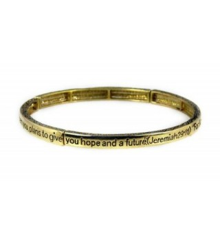 4030555 Petite Jeremiah 29:11 Christian Stretch Bracelet Jesus Religious Christ Bible Stackable - CT110J03TIX