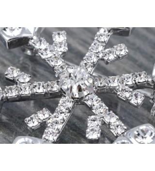 Alilang Silvery Rhinestones Holiday Snowflake