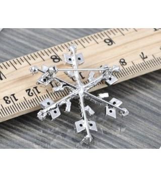 Alilang Silvery Rhinestones Holiday Snowflake in Women's Brooches & Pins