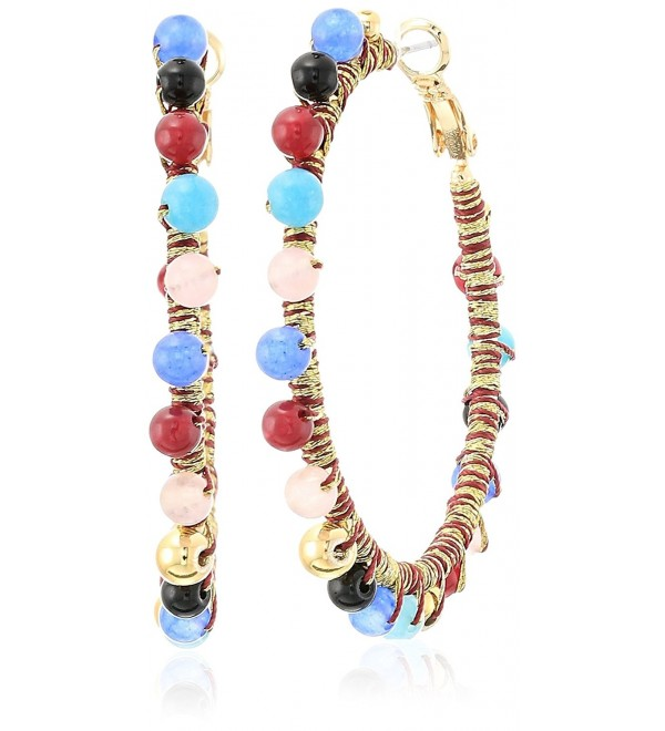 Rebecca Minkoff Womens Morocco Hoop Earrings - Bright Multi - CC1850U64CI
