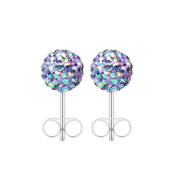 20G Tanzanite Multi-Sprinkle Dot Multi Gem Aurora Ball Inspiration Dezigns Ear Stud Earrings - CB17YLNAKGQ