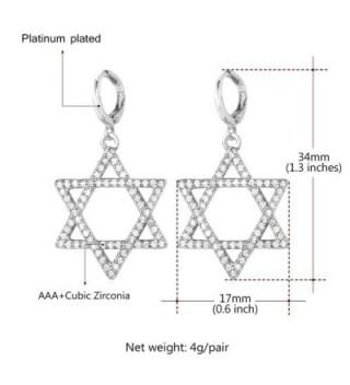 U7 Platinum Plated Dangle Earring