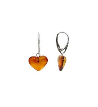 Genuine Natural Baltic Leverback Earrings in Women's Drop & Dangle Earrings