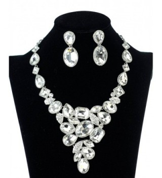Womens Evening Gala Necklace Earring