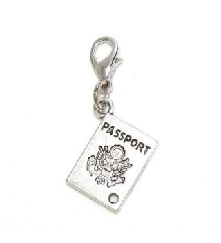 "Pro Jewelry Clip-on ""Passport"" Charm Dangling - CO11LZ5WTLT"