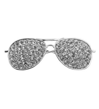 CHUYUN Cool Sunglasses Brooches Pin For Women Gold And Silver Color Jewelry Rhinestone Lapel Pin - CB186WW3NK3