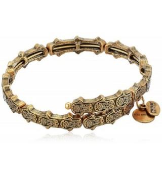 Alex and Ani Hand of Fatima Wrap Bracelet - Rafaelian Gold - CG183KQU3UC