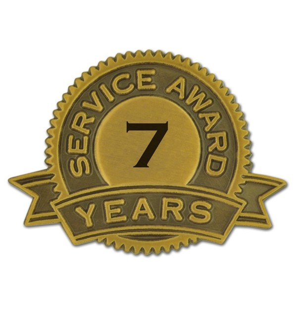 PinMart's 7 Years of Service Award Lapel Pin - C911U0ZDSSD