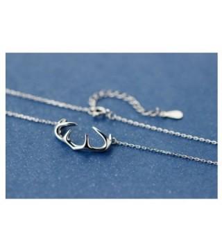 Helen de Lete Innovative Deer Horn Antler Sterling Silver Collar Necklace - CY12IN7TB8P
