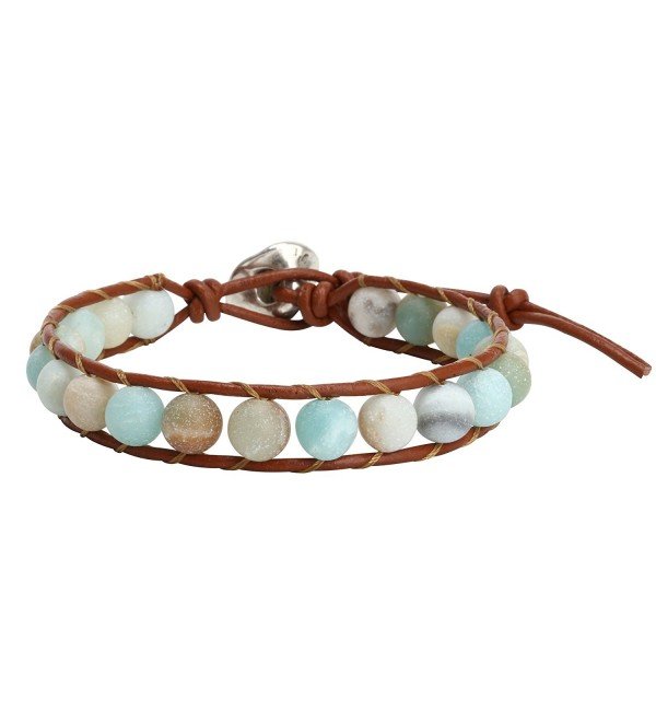Natural Amazonite Bracelet Handmade Adjustable - CW183LSAC4L