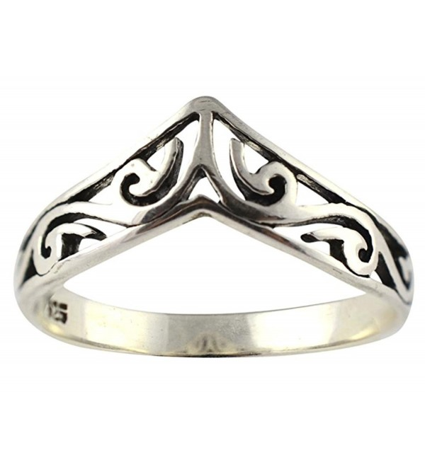 .925 Sterling Silver Celtic Design Unity Crown Ring - C411HTADR73