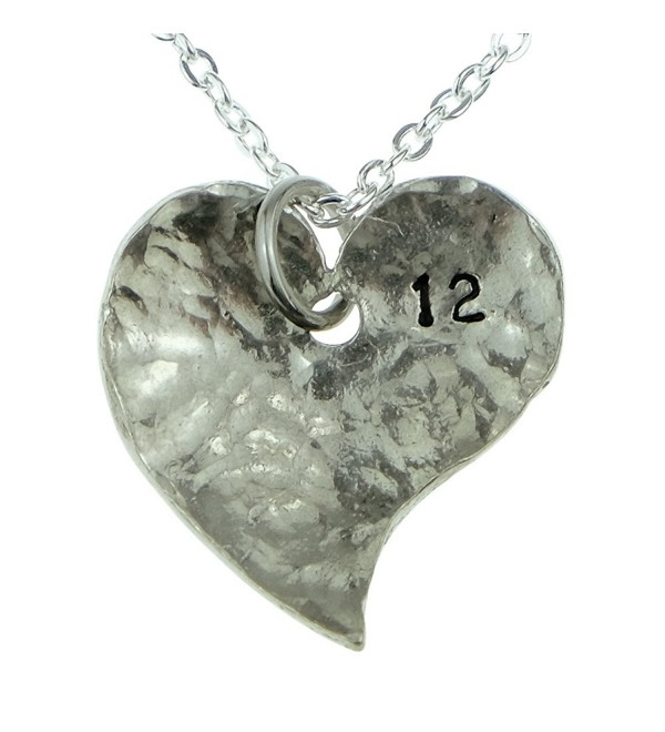 12th Year Anniversary Heart Necklace - Great 12th Anniversary Gift for Your Wife - CO12IP0LWOL