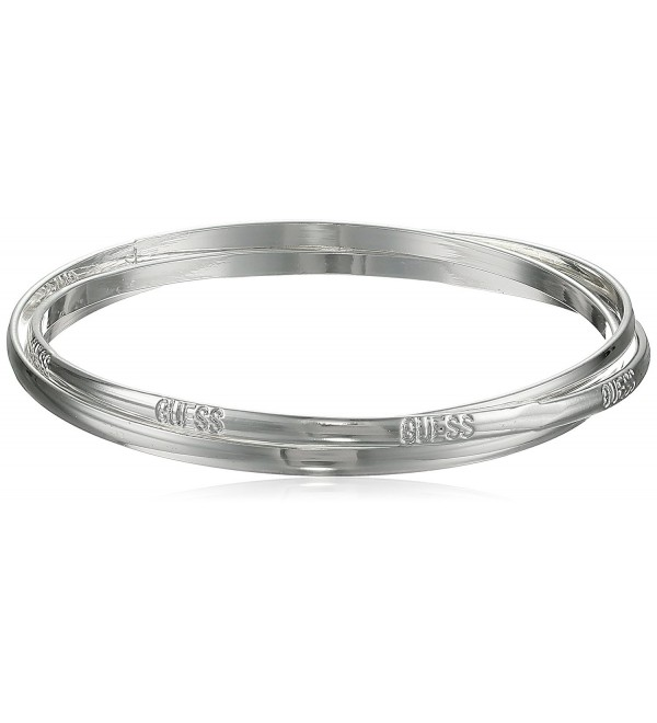 "GUESS ""Basic"" Silver 3 Piece Interlocking Bangle Bracelet - CV1160FK1G9"