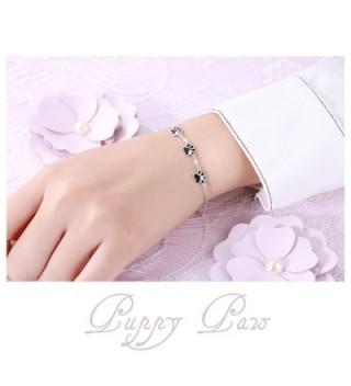 Sterling Silver Puppy Print Bracelets