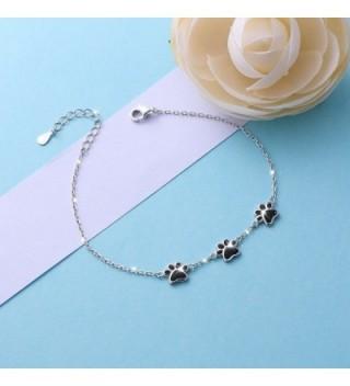Sterling Silver Puppy Print Bracelets in Women's Link Bracelets