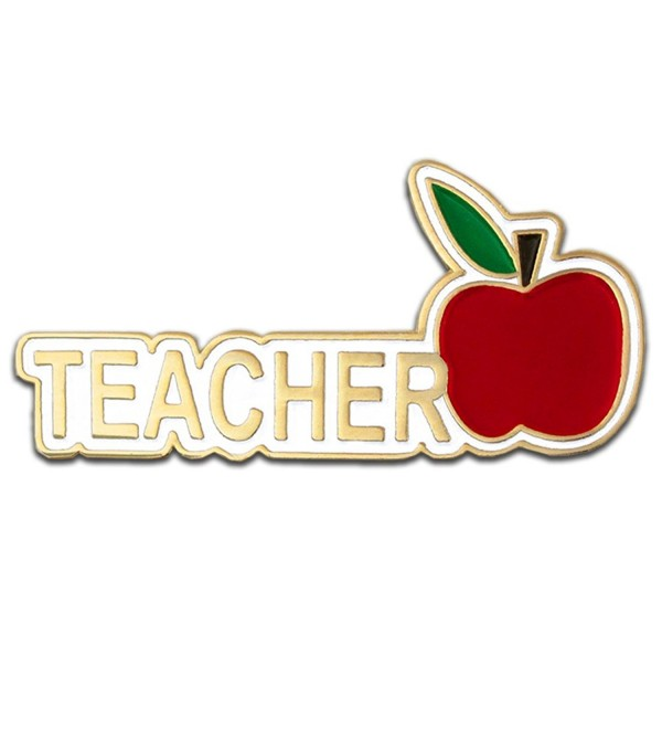 "PinMart's Teacher Red Apple Appreciation Gift Recognition Lapel Pin 1-1/4"" - CE11B8VT39V"