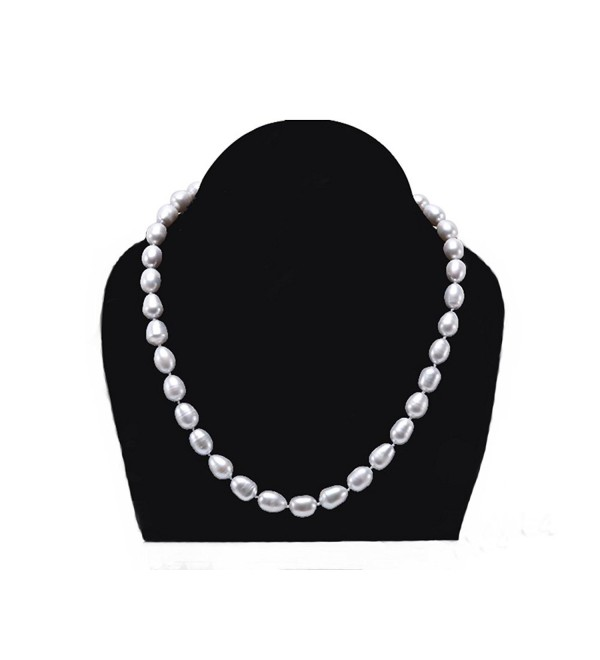 JYX Exquisite 8.5-10.5mm Gray Cultured Freshwater Pearl Necklace 18 inches - CG12O6O6AUJ