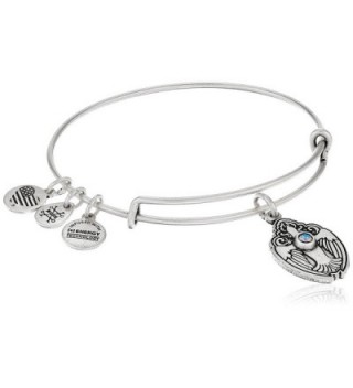 Alex and Ani Crystal Dove Rafaelian Bangle Bracelet - Rafaelian Silver - CJ12JITS9IF