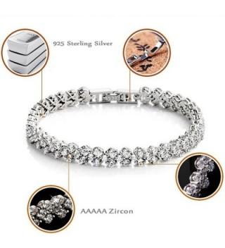 Elensan Sterling Zirconia Platinum Bracelet