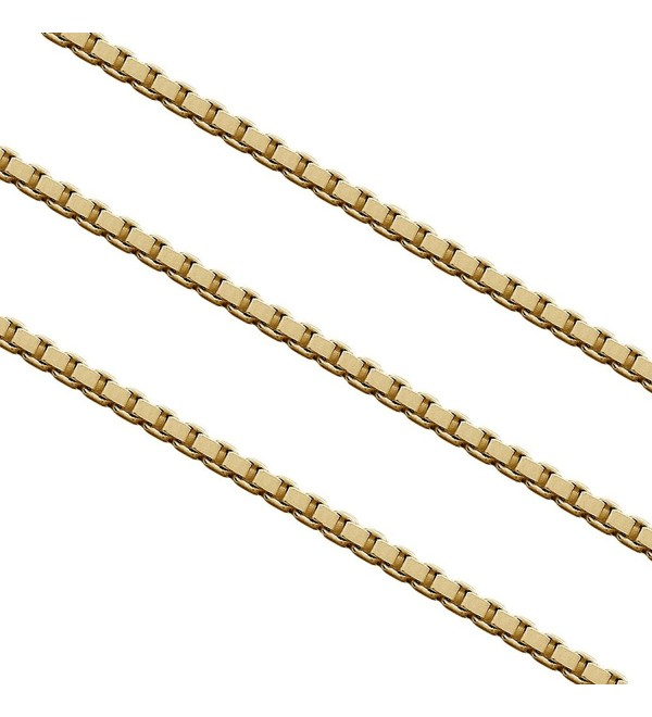 1.4mm Stainless Steel Box Chain Necklace - C3129PA8E8V