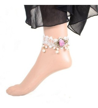 YAZILIND Romantic White Alloy Anklets