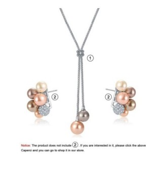 Caperci Double Dangling Pendant Necklace in Women's Y-Necklaces