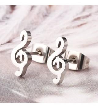 Music Earrings Stainless Steel Musical