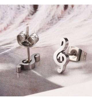 Music Earrings Stainless Steel Musical in Women's Stud Earrings