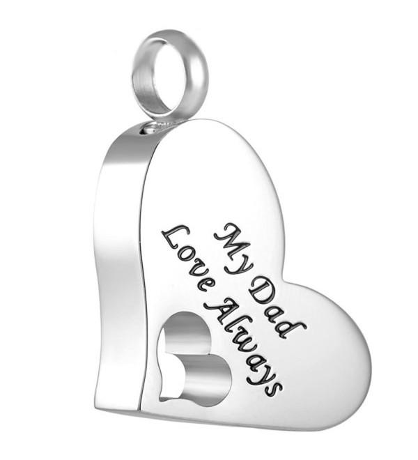 "Peerless Pieces Urn Necklace Cremation Memorial Keepsake Stainless Steel 20"" My Dad Love Always 61 - CW125WDK6RN"