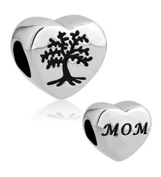CandyCharms Heart Love Mom Tree of Life Stainless Steel Beads For Bracelets - CJ12O5NZUXM