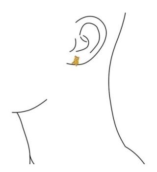 Bling Jewelry Yorkshire Terrier earrings in Women's Stud Earrings