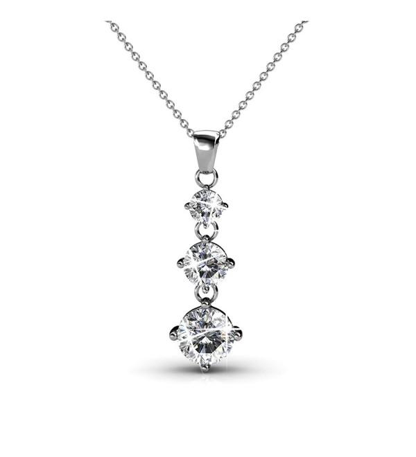 Cate Chloe Swarovski Special Occasion Jewelry Round Cut - C4186WK69OE