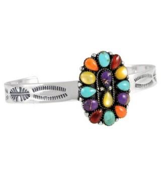Turquoise Gemstone Bracelet Sterling different
