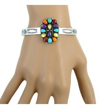Turquoise Gemstone Bracelet Sterling different in Women's Cuff Bracelets