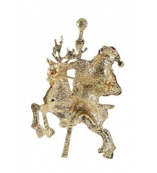 Bejeweled Christmas Goldtone Reindeer 277