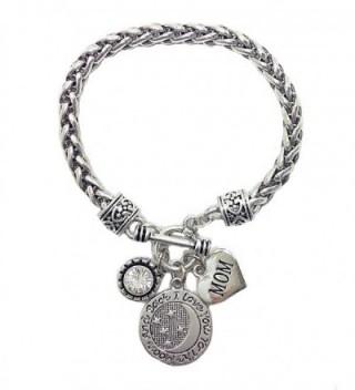Mom I Love You to the Moon and Back Heart Charm Bracelet & Gift Bag - CE12NZC0HEW
