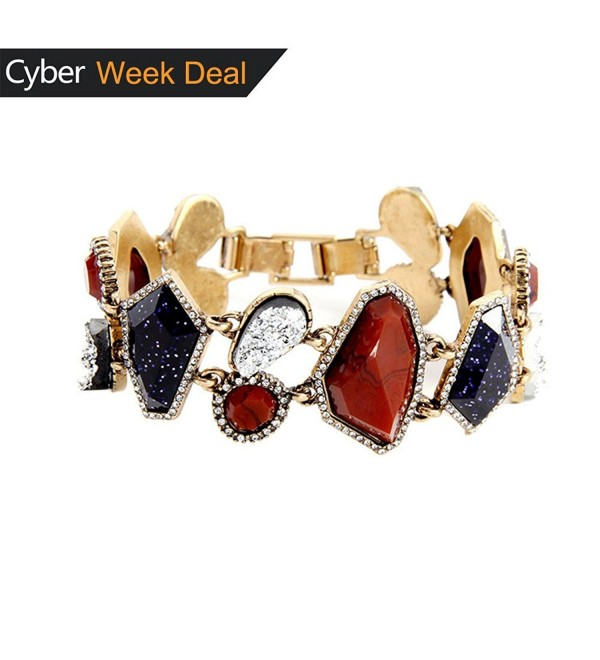 Black Friday Deals Swarovski Elements Crystal Bracelet Jewelry for Women Christmas Gift - Red Blue - C11845SU2M8