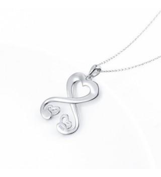 Sterling Infinity Pendant Necklace Girlfriend in Women's Pendants