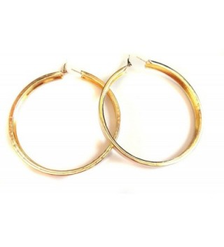 Large Inch Hoop Earrings Thick