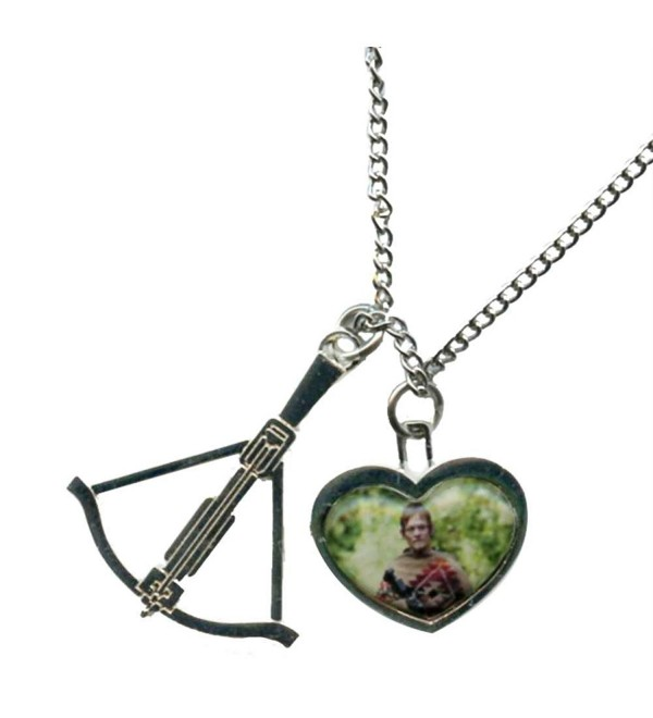 Walking Dead Daryl in Heart with Crossbow Charm Necklace - CS11O0IZ0KF