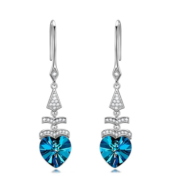 NINASUN Christmas Swarovski Anniversary Girlfriend - Drop Earrings - C6188E5MCUG