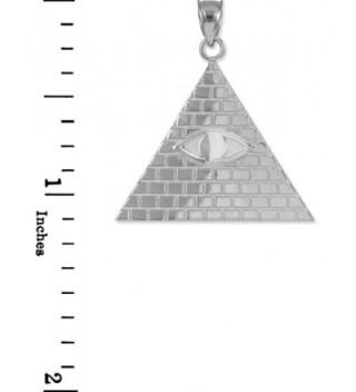 Sterling Pyramid Providence Illuminati Necklace