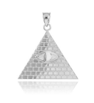 Sterling Pyramid Providence Illuminati Necklace in Women's Pendants