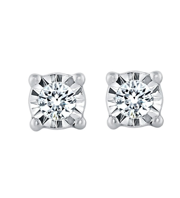 Sterling Silver 1/10cttw Diamond Stud Earring for Women - CV187INO4MZ