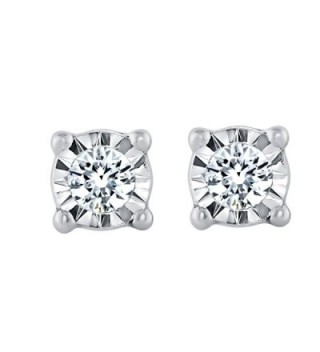 Sterling Silver 1/10cttw Diamond Stud Earring for Women - CV187INO4MZ