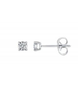 Sterling Silver Diamond Earring sterling silver