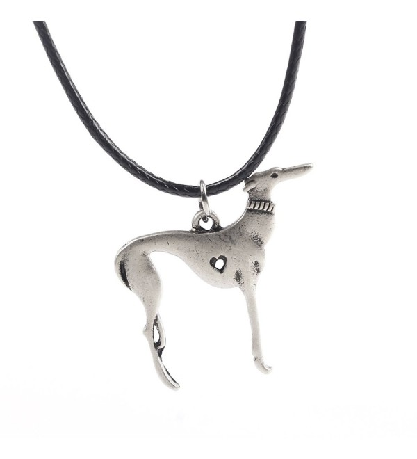 Elegant Sitting Italian Greyhound Dog Necklace Animal Pendant I Love My Dog Memorial Gift Greyhound Rescue 1263 - CA12O08CVQ0